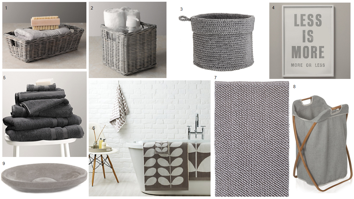 Grey bathroom accessories - BritishStyleUK