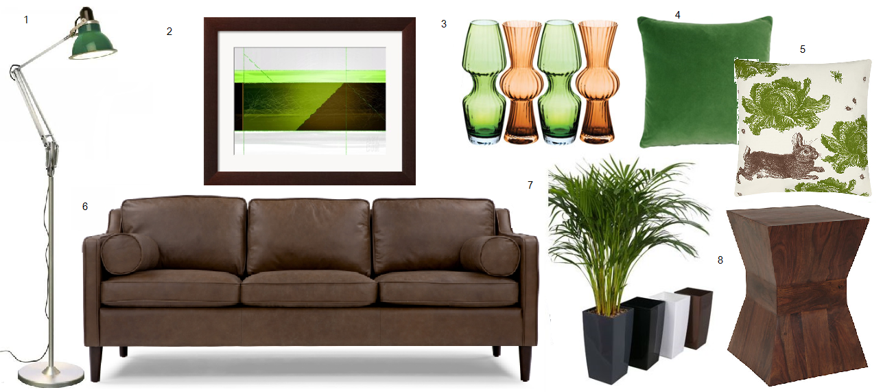 Dark Brown And Green Living Room Theme Britishstyleuk
