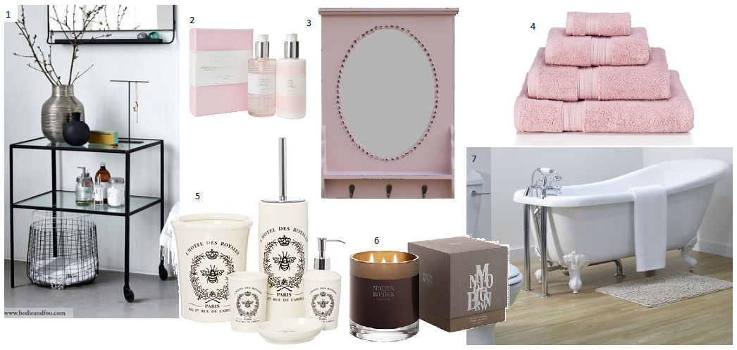 Black white and pale pink home interior ideas for Black white and pink bathroom ideas